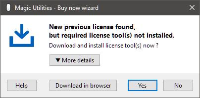 Buy now wizard - License tools download - Magic Utilities